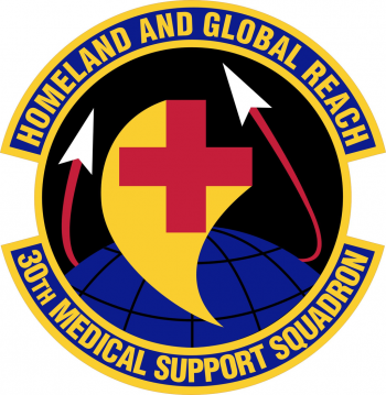 Coat of arms (crest) of the 30th Medical Support Squadron, US Air Force