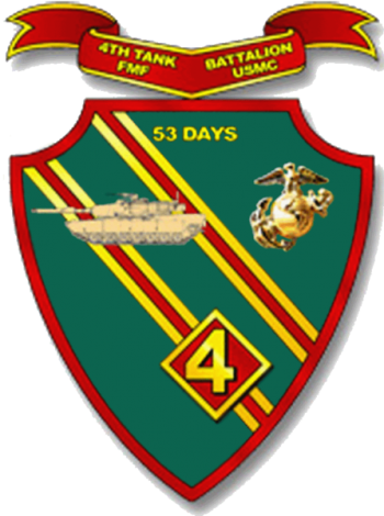 Coat of arms (crest) of the 4th Tank Battalion, USMC