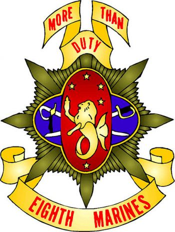 Coat of arms (crest) of the 8th Marine Regiment, USMC