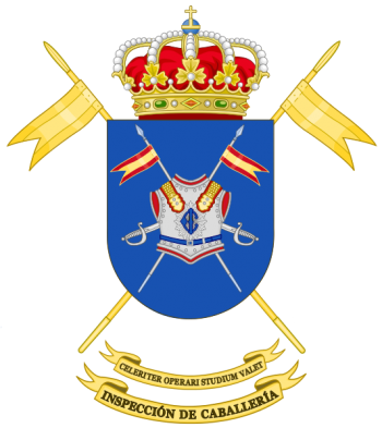 Coat of arms (crest) of the Cavalry Forces Inspector's Office, Spanish Army