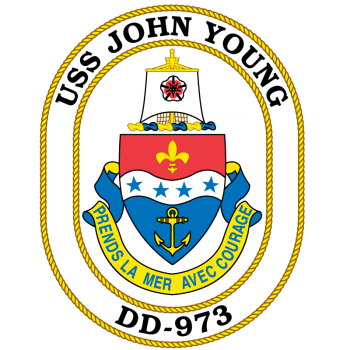 Coat of arms (crest) of the Destroyer USS John Young (DD-973)