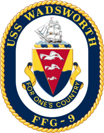 Coat of arms (crest) of the Frigate USS Wadsworth (FFG-9)