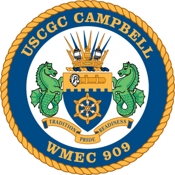 Coat of arms (crest) of the USCGC Campbell (WMEC-909)