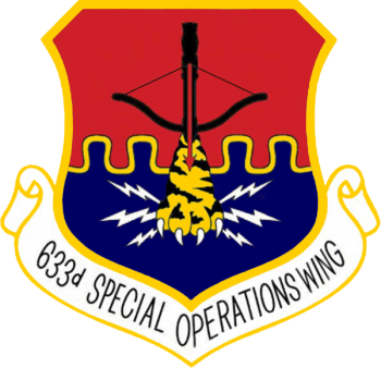 Coat of arms (crest) of the 633rd Special Operations Wing, US Air Force