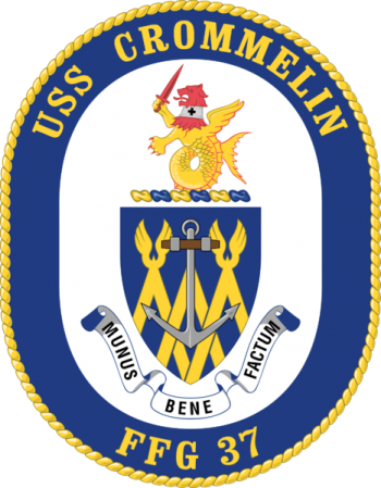 Coat of arms (crest) of the Frigate USS Crommelin (FFG-37)
