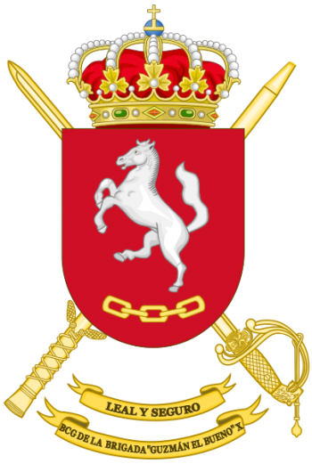 Coat of arms (crest) of the Brigade Guzmán el Bueno X Headquarters Battalion, Spanish Army
