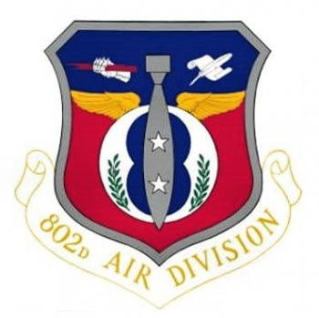 Coat of arms (crest) of the 802nd Air Division, US Air Force