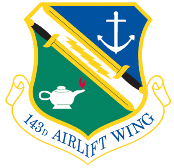 Coat of arms (crest) of the 143rd Airlift Wing, Rhode Island Air National Guard