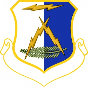 Coat of arms (crest) of the 327th Air Division, US Air Force