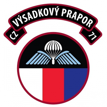 Coat of arms (crest) of the 43rd Parachute Battalion, Czech Army