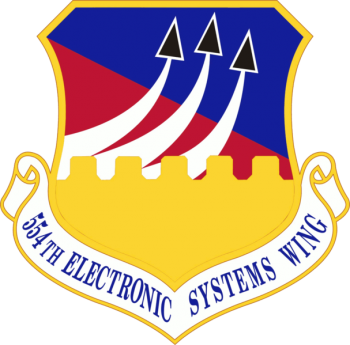 Coat of arms (crest) of the 554th Electronic Systems Wing, US Air Force