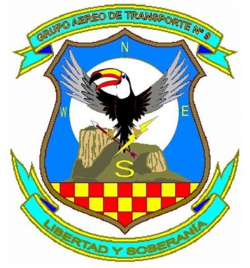Coat of arms (crest) of the Air Transport Group No 9, Air Force of Venezuela