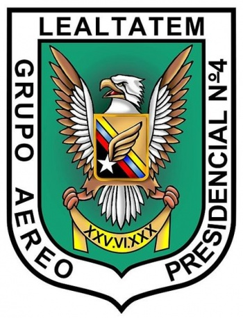 Coat of arms (crest) of the Presidental Air Group No 4, Air Force of Venezuela