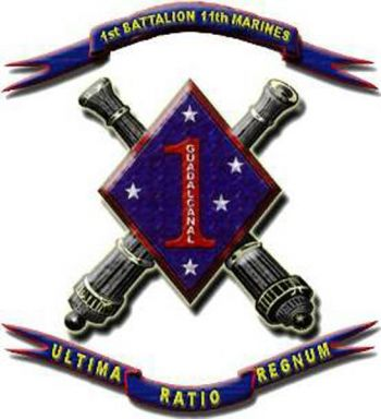 Coat of arms (crest) of the 1st Battalion, 11th Marines, USMC