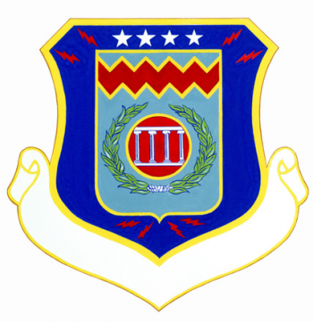 Coat of arms (crest) of the 55th Combat Support Group, US Air Force