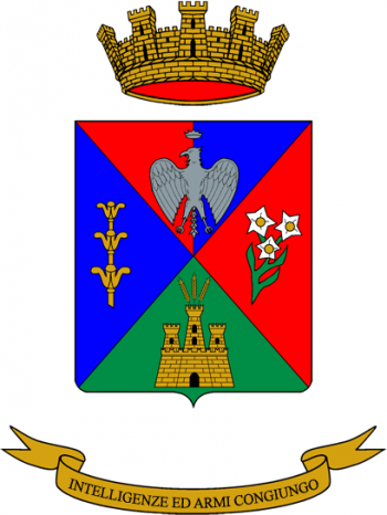 Coat of arms (crest) of the 11th Signal Regiment, Italian Army