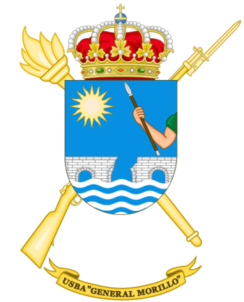 Coat of arms (crest) of the Base Services Unit General Morillo, Spanish Army
