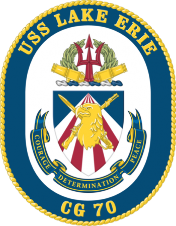 Coat of arms (crest) of the Cruiser USS Lake Eire