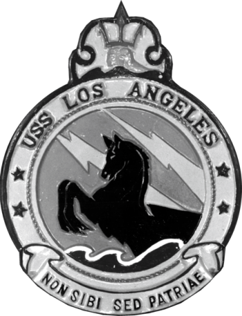 Coat of arms (crest) of the Cruiser USS Los Angeles (CA-135)
