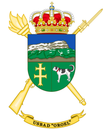 Coat of arms (crest) of the Discontinuous Base Services Unit Oroel, Spanish Army