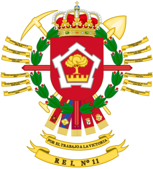 Specialist Engineer Regiment No 11, Spanish Army.png