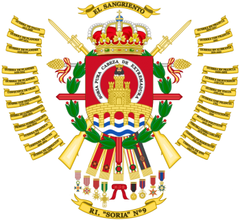 Coat of arms (crest) of the Infantry Regiment Soria No 9, Spanish Army