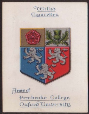 Arms of Pembroke College (Oxford University)