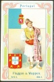 Arms, Flags and Folk Costume trade card Natrogat Portugal