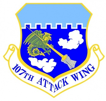 Coat of arms (crest) of the 107th Attack Wing, New York Air National Guard