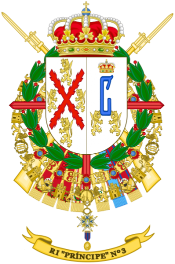Coat of arms (crest) of the Infantry Regiment Principe No 3, Spanish Army