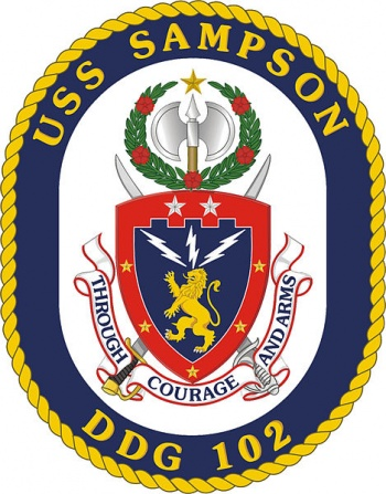 Coat of arms (crest) of the Destroyer USS Sampson (DDG-102)