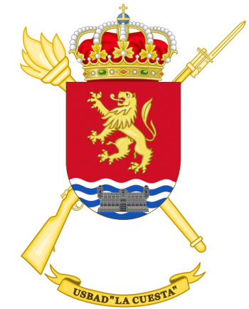 Coat of arms (crest) of the Discontinuous Base Services Unit La Cuesta, Spanish Army