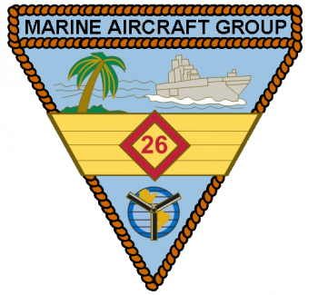Coat of arms (crest) of the Marine Aircraft Group 26, USMC