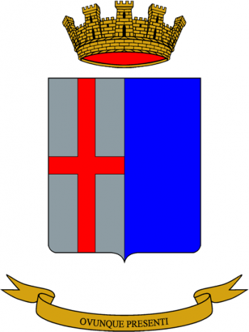 Coat of arms (crest) of the 33rd Logistics Manouvre Regiment Ambrosiano, Italian Army