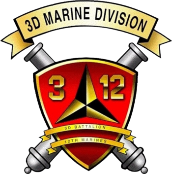 Coat of arms (crest) of the 3rd Battalion, 12th Marines, USMC