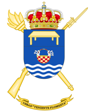 Coat of arms (crest) of the Discontinuous Base Services Unit Teniente Flomesta, Spanish Army