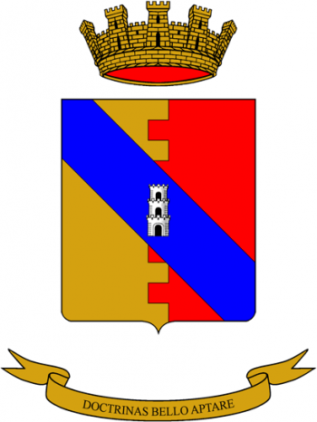 Coat of arms (crest) of the Engineer Application School, Italian Army
