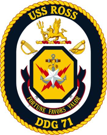Coat of arms (crest) of the Destroyer USS Ross