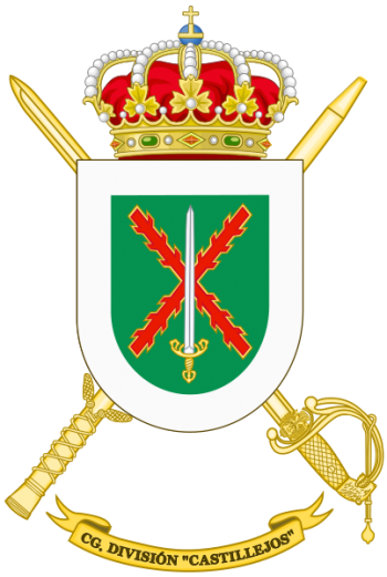 Coat of arms (crest) of the Division Castillejos Headquarters, Spanish Army