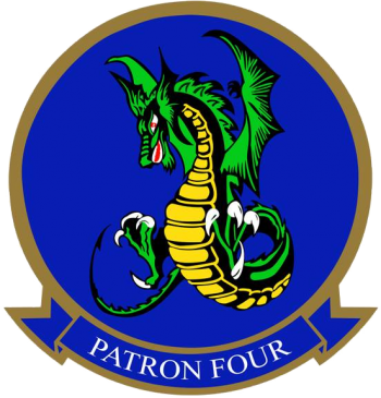 Coat of arms (crest) of the VP-4 Skinny Dragons, US Navy