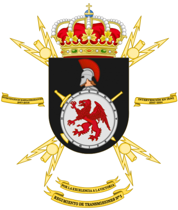 Coat of arms (crest) of the Signal Regiment No 1, Spanish Army