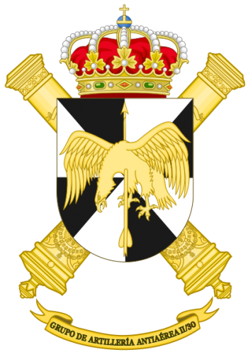 Coat of arms (crest) of the Air Defence Artillery Group II-30, Spanish Army