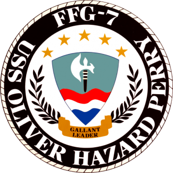 Coat of arms (crest) of the Frigate USS Oliver Hazard Perry (FFG-7)