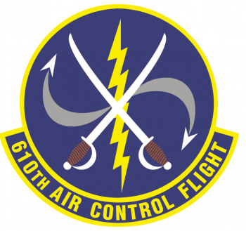 Coat of arms (crest) of the 610th Air Control Control Flight, US Air Force