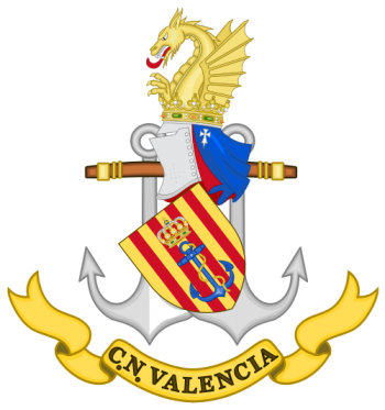 Coat of arms (crest) of the Naval Command of Valencia, Spanish Navy