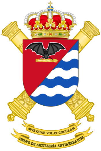 Coat of arms (crest) of the Air Defence Artillery Group II-32, Spanish Army