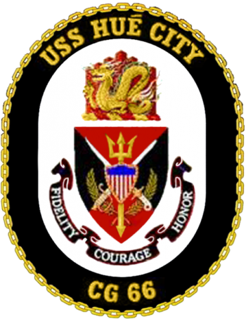 Coat of arms (crest) of the Cruiser USS Hue City