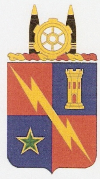 Coat of arms (crest) of the Special Troops Battalion, 1st Brigade, 1st Armoured Division, US Army