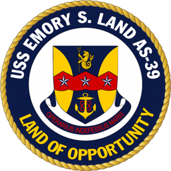 Coat of arms (crest) of the Submarine Tender USS Emory S. Land (AS-39)