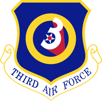 Coat of arms (crest) of the 3rd Air Force, US Air Force